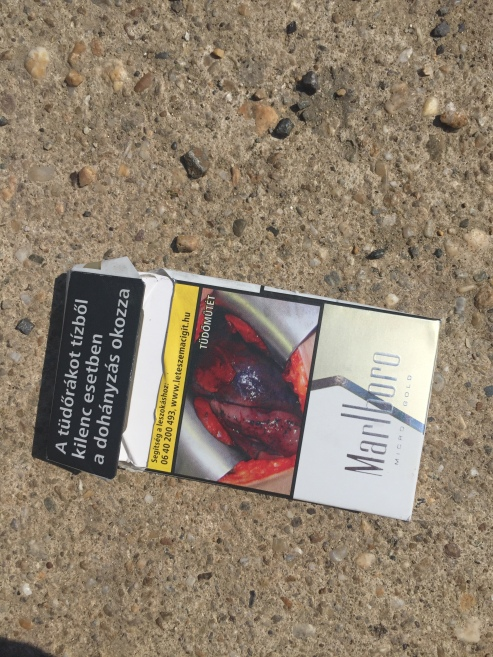 the cigarette package as promised