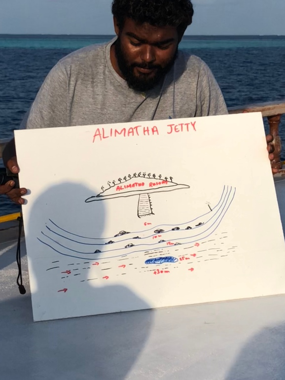 Rifad's drawing of alimatha dive site